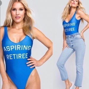 "Other - NWOT WILDFOX ""aspiring retiree"" bathing suit!"